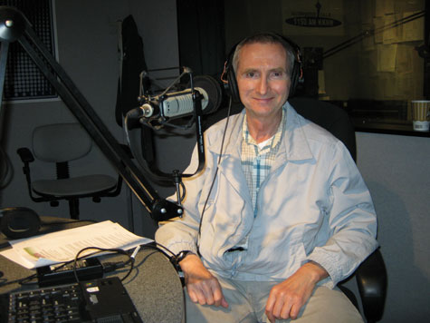 William Puckett in Studio of KKNW Radio, Bellevue, WA - August 22, 2010