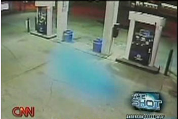 Still Image Extracted From Video of Strange Blue Mass