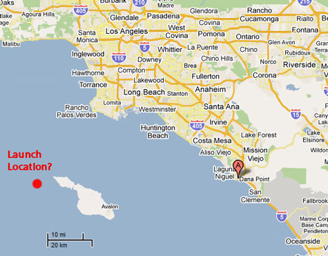 Pentagon cant explain missile off california witness at dana point california saw rocket launch a couple of miles west of catalina sciox Gallery