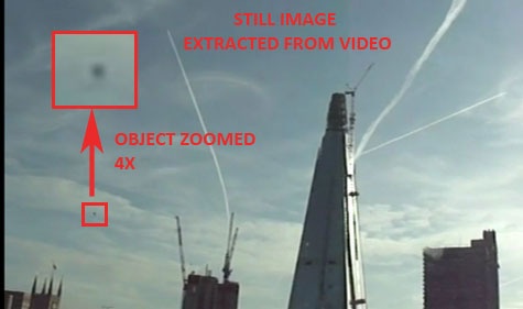 Still Image Extracted From Video Showing Unknown Object.