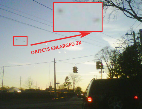 Photo & Enlargement of 2 Unknown Objects Seen by Witness.