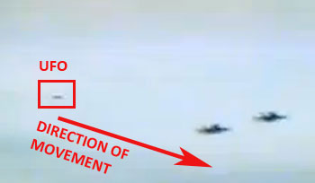 1st Image From Video Showing UFO Approaching Jets.