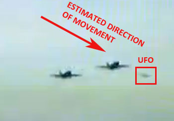 2nd Image From Video Showing UFO Crossing Jets Path.