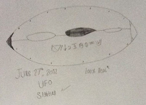 Sketch of Oval Object Prepared by Witness.