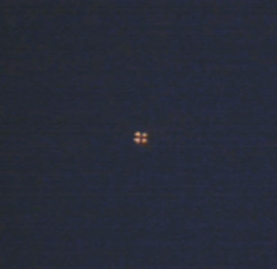 Image of Orb Showing 4 Lights. Image Was Extracted From Video.