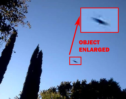 ONE OF PHOTOS SENT BY WITNESS. (OBJECT ENLARGED.)
