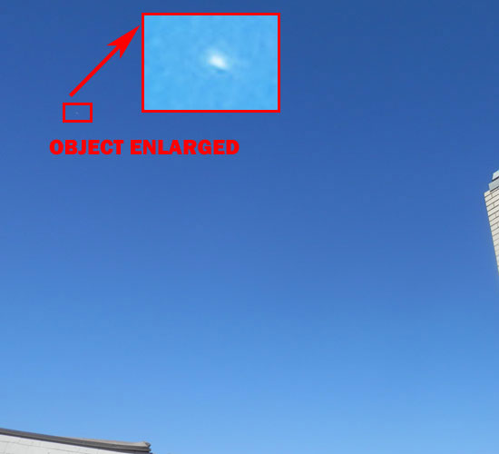 Photo & Enlargement of Bright Object Seen & Photographed by Witness.