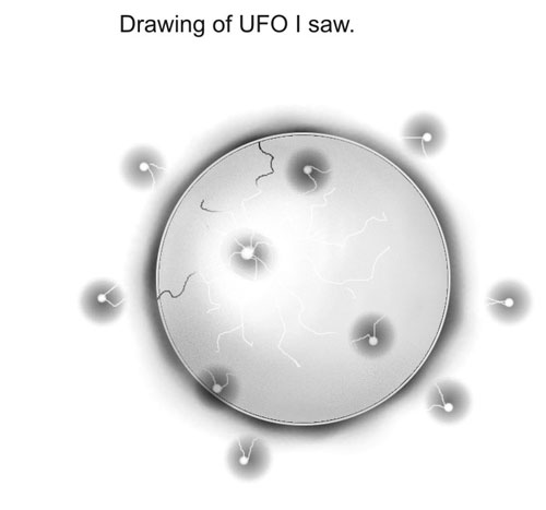 Sketch of Flying Disk Prepared by Witness.