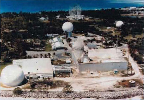 PHOTO OF C-BAND SPACE SURVEILLANCE RADAR.