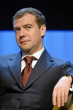 PHOTO OF RUSSIAN PRIME MINISTER DMITRY ANATOLYEVICH MEDVEDEV. 