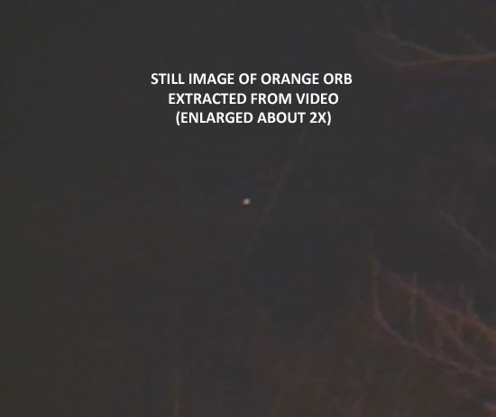 STILL IMAGE OF ORB EXTRACTED FROM VIDOE.