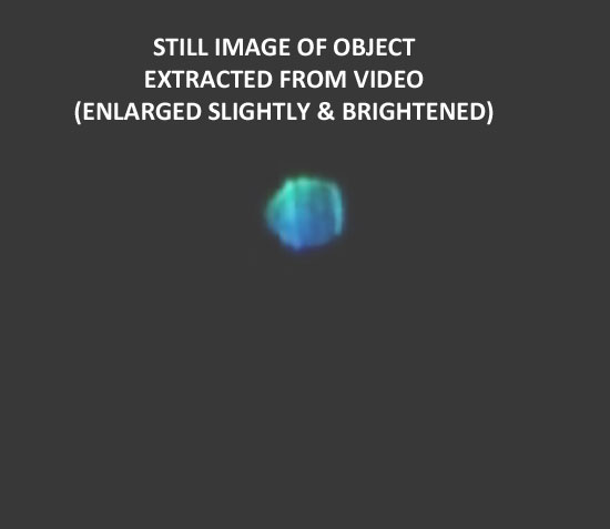 STILL IMAGE OF LIGHT EXTRACTED FROM VIDEO.