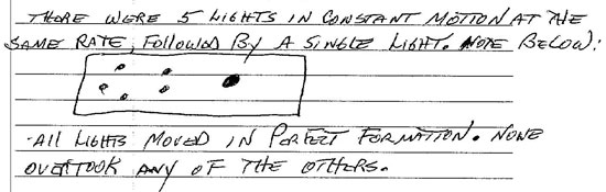 SKETCH & DESCRIPTION OF 5 LIGHTS.