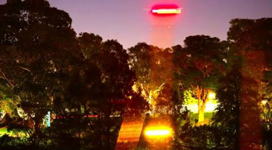 Image Extracted From Actor Russell Crowe's Video of a UFO in Australia.