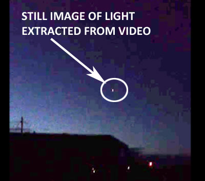 STILL IMAGE OF LIGHT ENLARGED 1.5X.