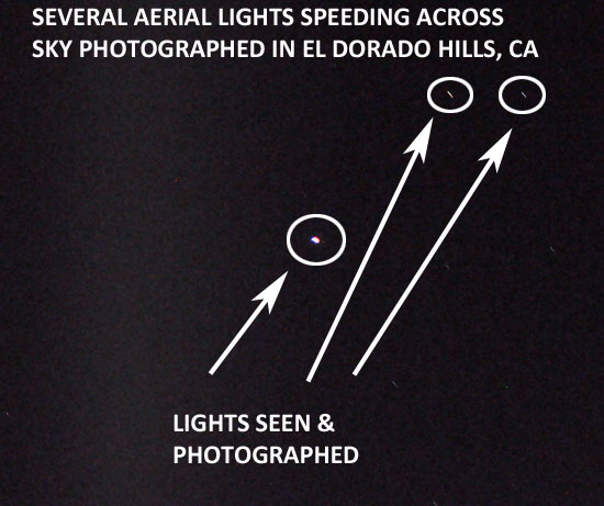 ANNOTATED PHOTO OF LIGHTS SEEN & PHOTOGRAPHED BY WITNESS.