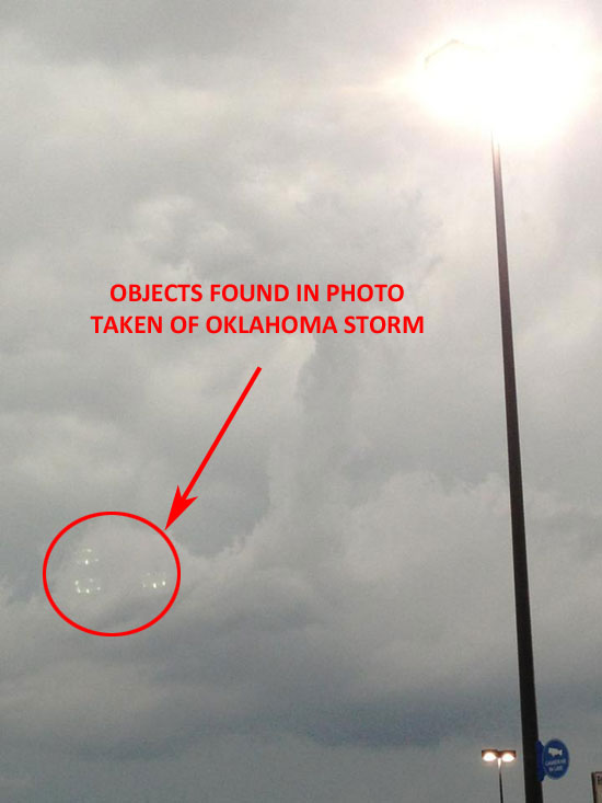 THESE OBJECTS WERE LATER DISCOVERED IN THIS PHOTO.