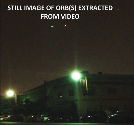 STILL IMAGE OF ORB(S) EXTRACTED FROM VIDEO.