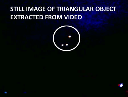 STILL IMAGE OF TRIANGULAR OBJECT EXTRACTED FROM VIDEO.