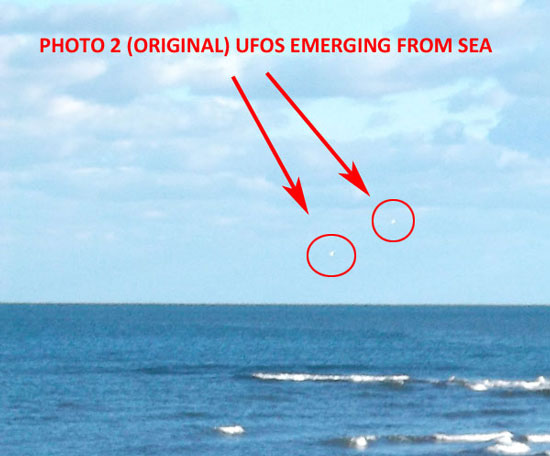 2ND PHOTO OF 2 USOS EMERGING FROM ENGLISH CHANNEL.