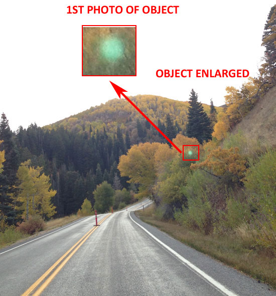 1ST PHOTO & ENLARGEMENT OF GREEN OBJECT.