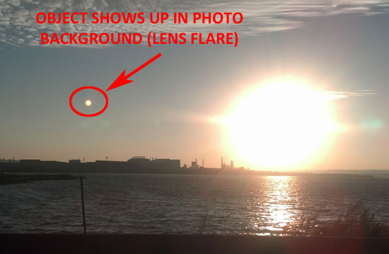 HIGHLIGHTED OBJECT IS NOT REAL & IS A LENS FLARE.