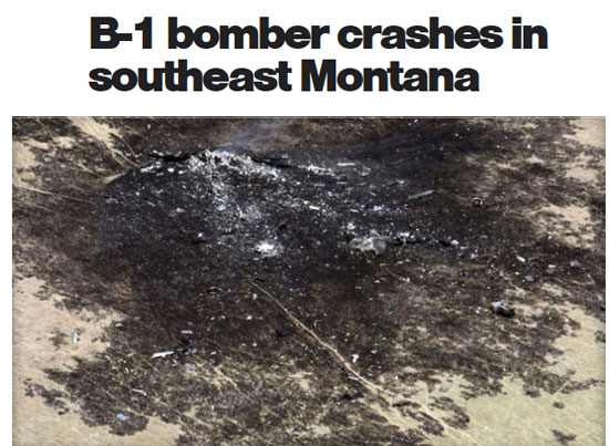 PHOTO OF B1 CRASH SITE.