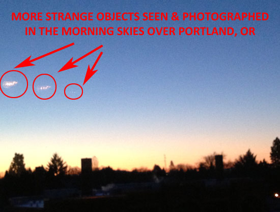 PHOTO OF STRANGE SEEN IN SKIES OVER PORTLAND, OR.