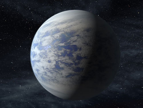 "ARTIST'S RENDITION OF ""EARTH-LIKE"" PLANET KEPLER-69C."