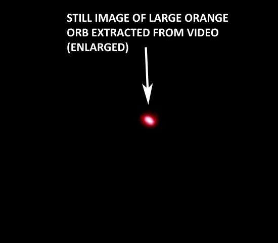 STILL IMAGE OF ORANGE ORB EXTRACTED FROM VIDEO.