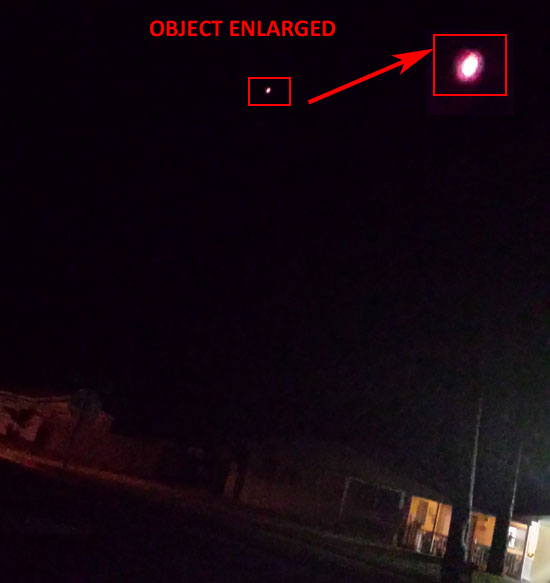 PHOTO & ENLARGEMENT OF HOVERING FIREBALL.