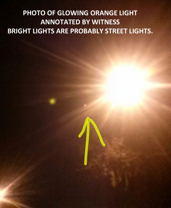 1 OF PHOTOS OF BRIGHT ORANGE ORB.