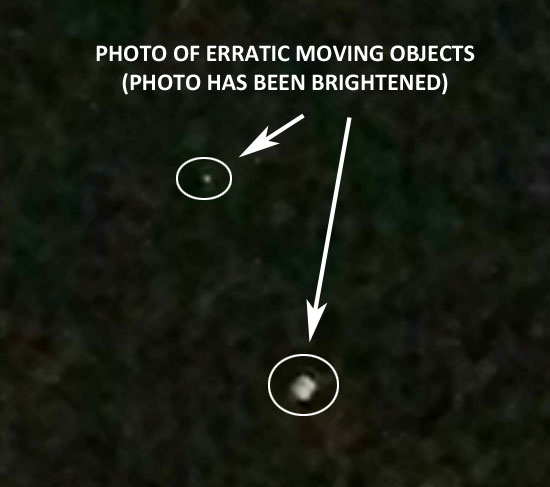 Photo Taken of Erratic Moving Objects in Night Sky.