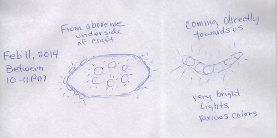 SKETCH OF OBJECT BY 1 OF WITNESSES.