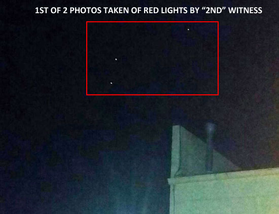 1ST OF 2 PHOTOS TAKEN OF UNKNOWN RED LIGHTS.