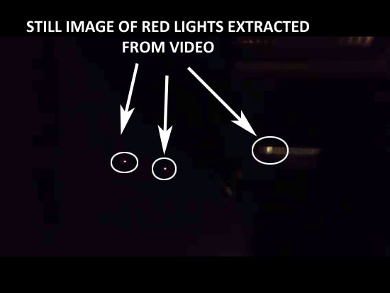 STILL IMAGE OF RED LIGHTS EXTRACTED FROM VIDEO.