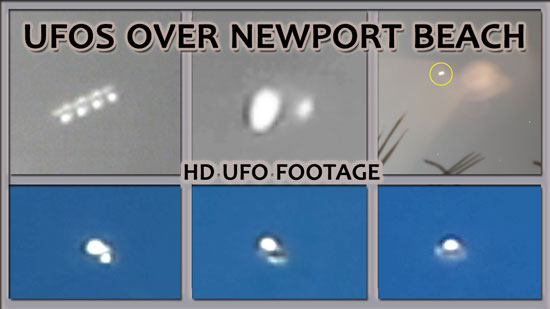 SEVERAL IMAGES OF UFOS EXTRACTED FROM VIDEO FOOTAGE.