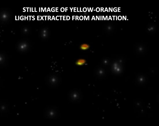 STILL IMAGE OF YELLOW-ORANGE LIGHTS EXTRACTED FROM ANIMATION.