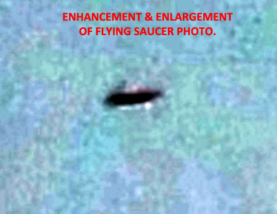 Enhancement & Enlargement of Flying Saucer.