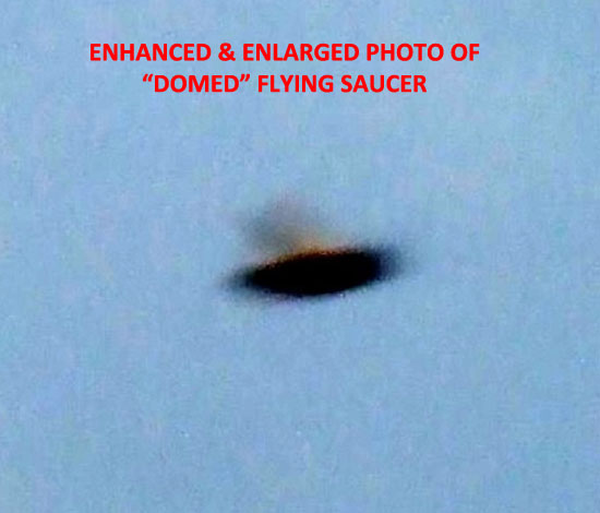 ENHANCED & ENLARGED PHOTO OF FLYING SAUCER.