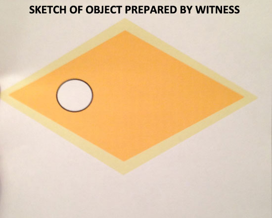 SKETCH OF OBJECT AS VIEWED BY WITNESS.