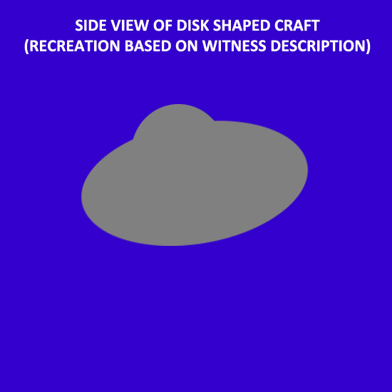 SKETCH OF SIDE VIEW OF DISK BASED ON WITNESS REPORT.