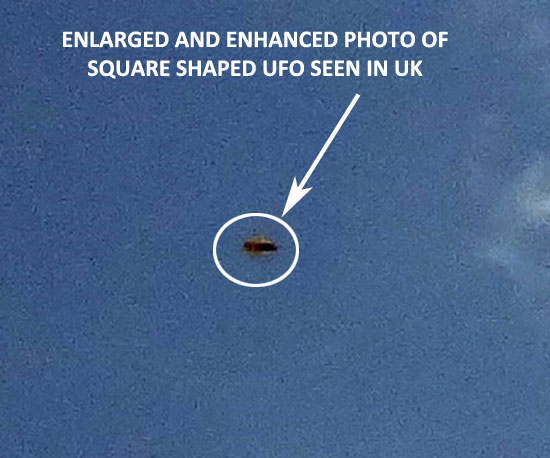 ENHANCED & ENLARGED PHOTO OF SQUARE SHAPED UFO.