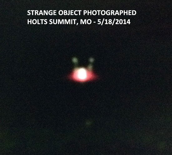 STRANGE AERIAL OBJECT PHOTO - HOLTS SUMMIT, MO