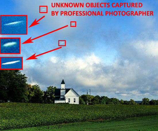 PHOTO & ENLARGEMENT OF UNKNOWN WHITE OBJECTS.