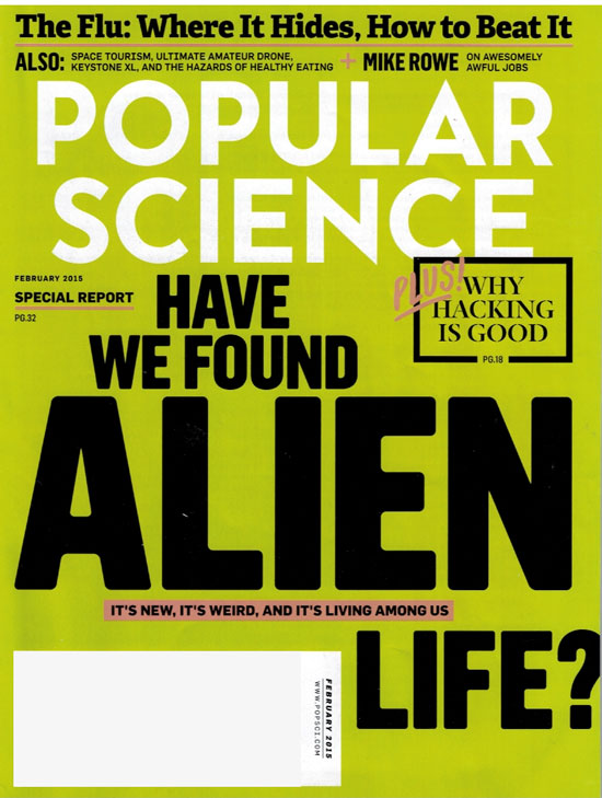 Cover Page for Feb. 2015 Popular Science Issue.