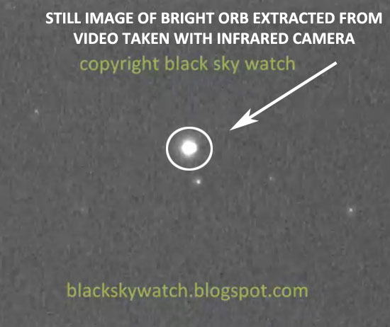 STILL IMAGE OF WHITE ORB EXTRACTED FROM COPYRIGHTED VIDEO.