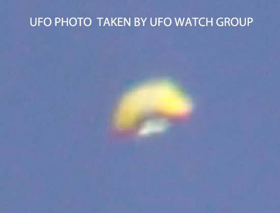 UFO PHOTO TAKEN BY UFO WATCH GROUP.