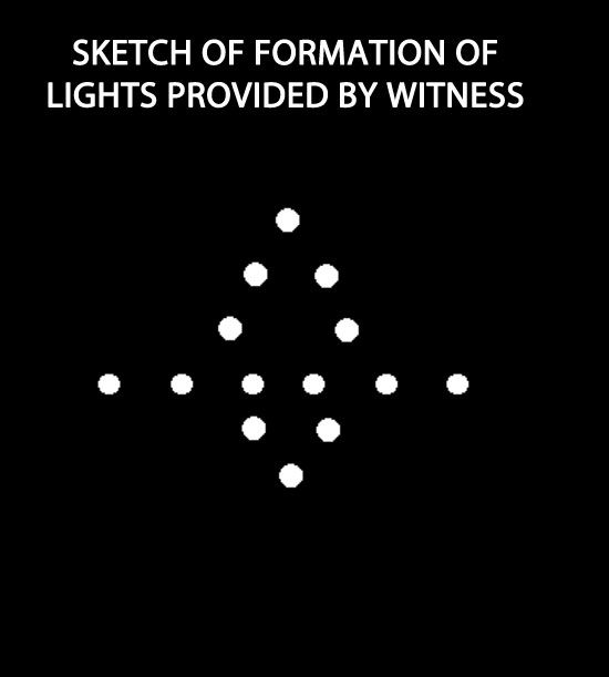 SKETCH OF LIGHTS PROVIDED BY WITNESS.