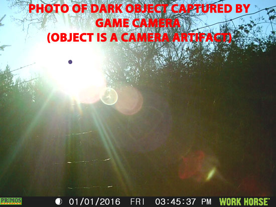 PHOTO OF DARK OBJECT. OBJECT IS NOT REAL & IS A CAMERA ARTIFACT.